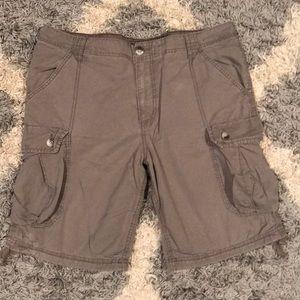 Gray Old Navy cargo shorts